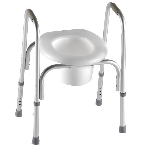 raised toilet seat with safety frame padded arms. Raised Toilet Seat with Safety Frame  Two in One    Medical Toilet
