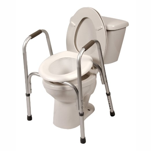 two in one toilet seat. Raised Toilet Seat with Safety Frame  Two in One Medical